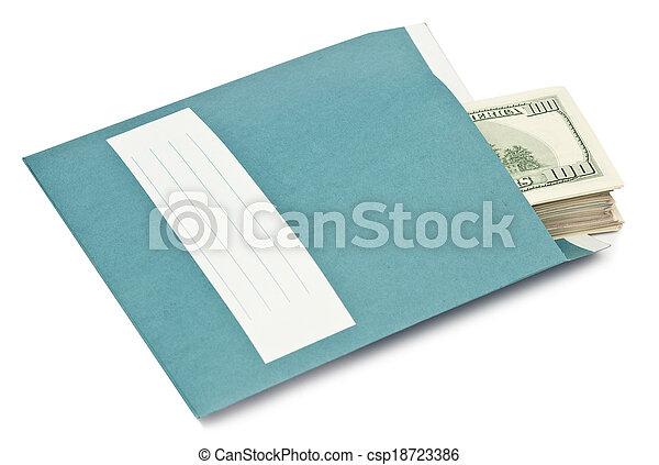 enveloppe argent - csp18723386