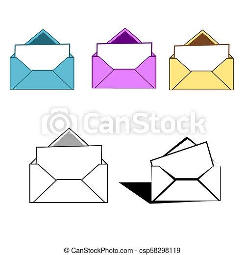 enveloppe, lettre, vide - csp58298119