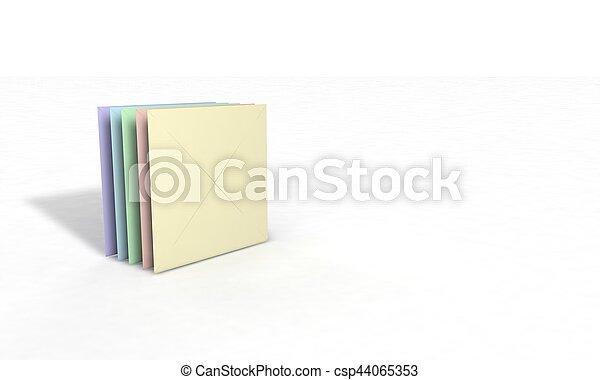 enveloppe, tridimensionnel, fond - csp44065353