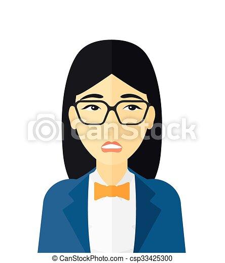 envergonhado mulher glasses apartamento mulher isolado