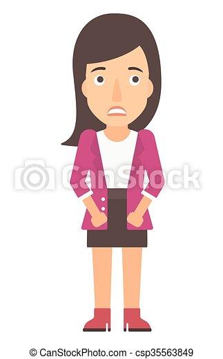 envergonhado woman jovem apartamento mulher vertical isolado