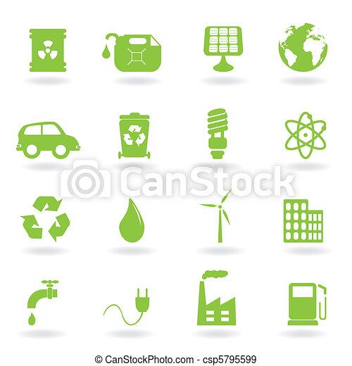 Environment and eco symbols - csp5795599