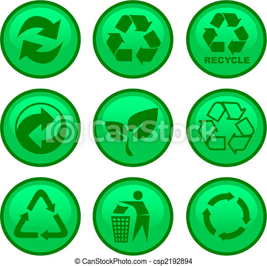 environment and recycle icons - csp2192894
