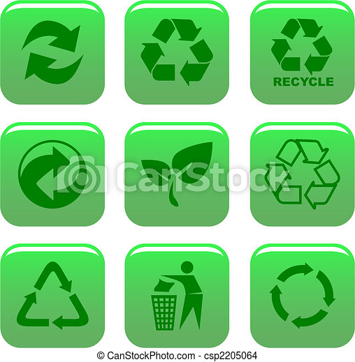 environment and recycle icons - csp2205064