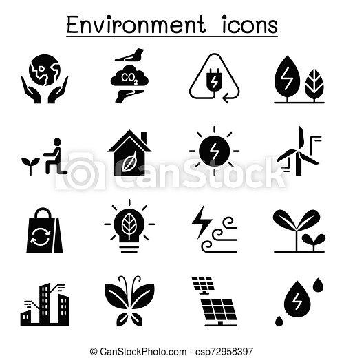 Environment & Ecology icon set - csp72958397