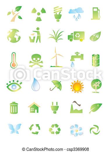 environment icon set - csp3369908