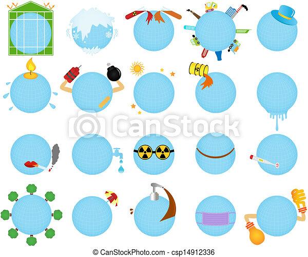 Environmental Change Global warming - csp14912336
