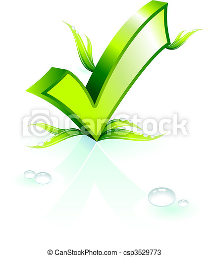 Environmental ckeck mark - csp3529773