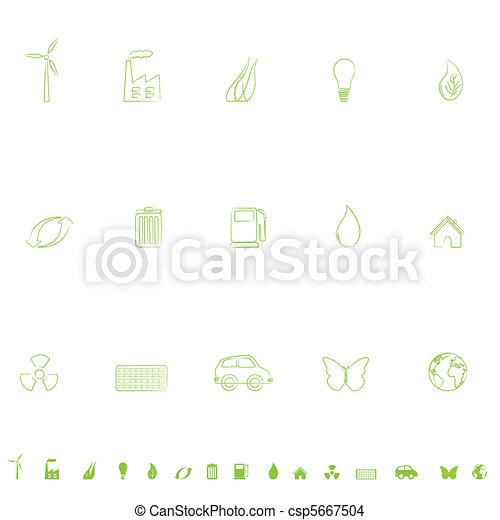 Environmental Icon Set - csp5667504