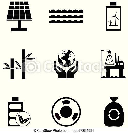 environmental icon set - csp57384981