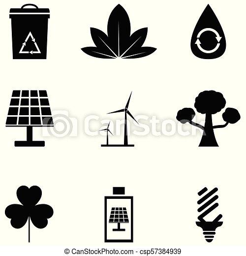 environmental icon set - csp57384939