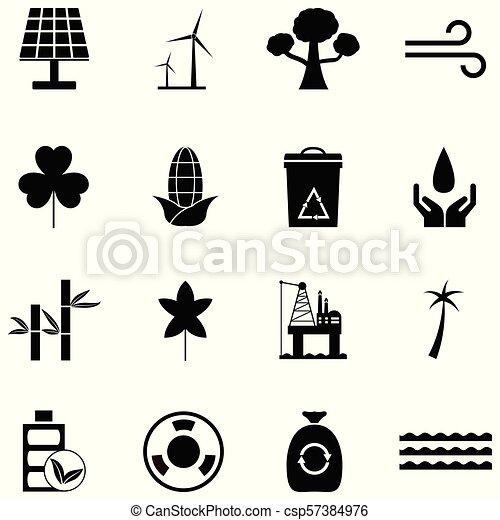 environmental icon set - csp57384976