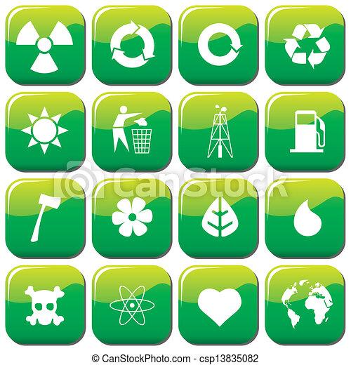 environmental icons - csp13835082