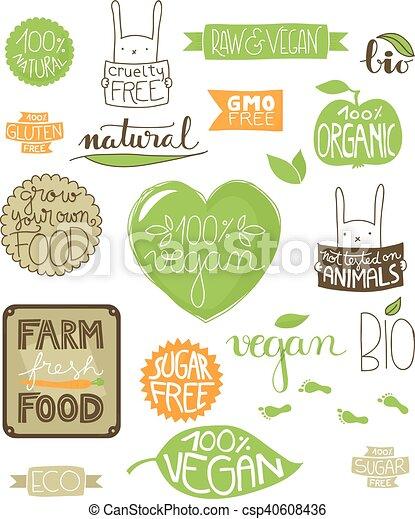 environmental icons, labels, badges - csp40608436