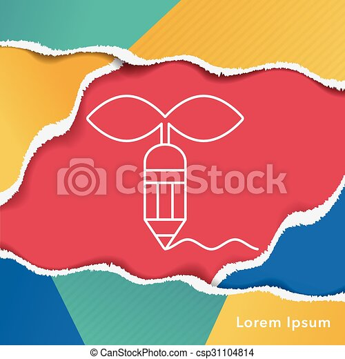 Environmental protection concept green pencil icon - csp31104814