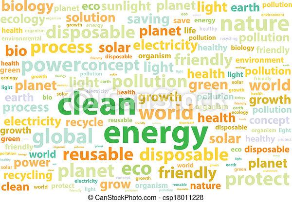 environnement, énergie, amical, propre - csp18011228