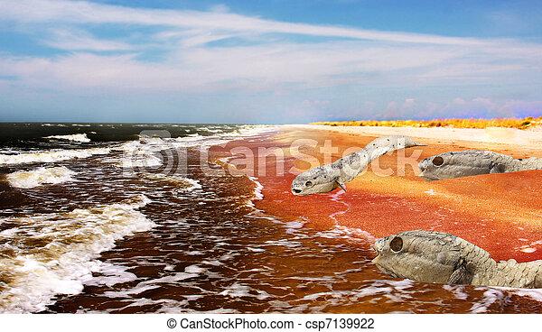 environnement, planète, -, crise, mort - csp7139922