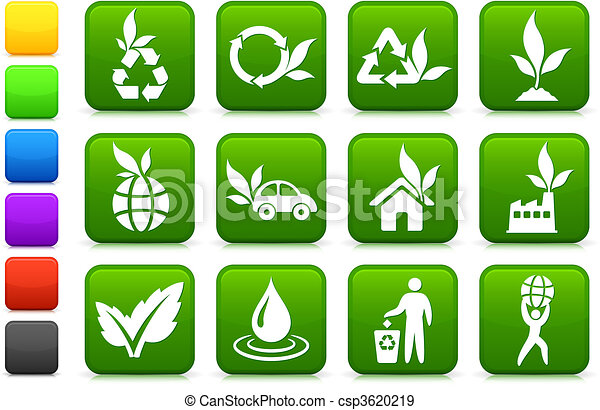 environnement, plus vert, collection, icône - csp3620219