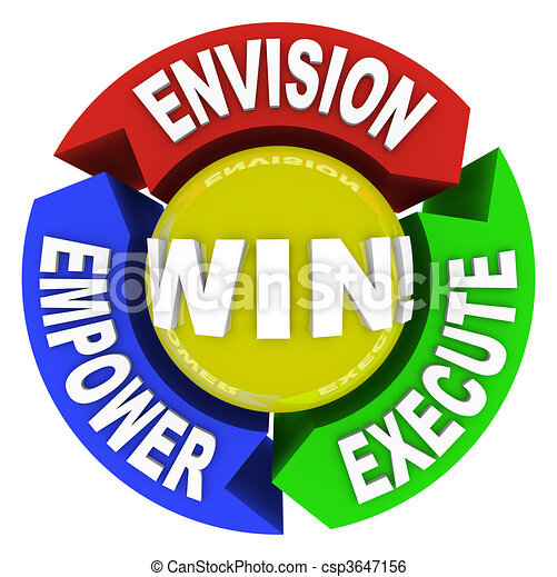 Envision Empower Execute - Win - csp3647156