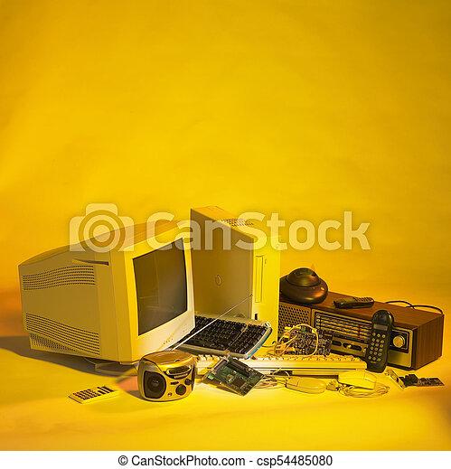 envoyer à la casse, électronique - csp54485080