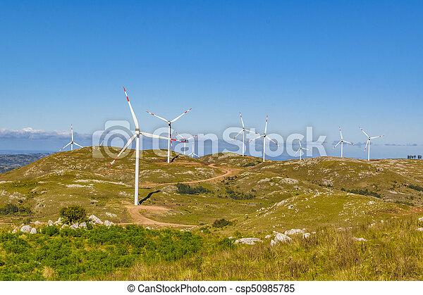 eolic, 風車, maldonado, 田舎, ウルグアイ - csp50985785
