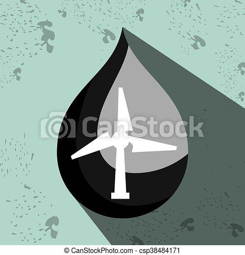 eolic, símbolo, desenho, isolado, ícone - csp38484171