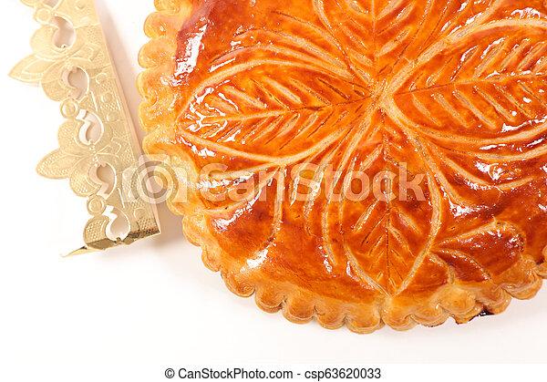 epiphany cake on white background - csp63620033