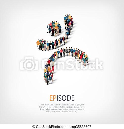 episode people crowd - csp35833607