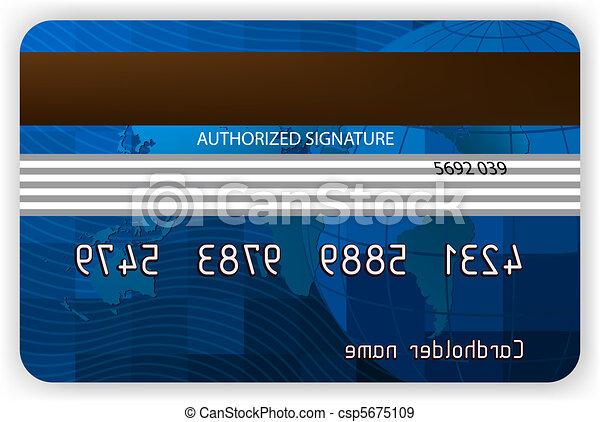 eps, 背中, クレジット, 8, ビュー。, カード - csp5675109