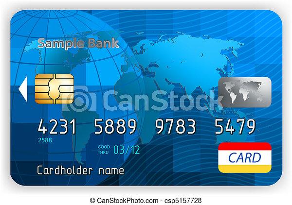 eps, krediet, voorkant, 8, overzicht., kaarten - csp5157728