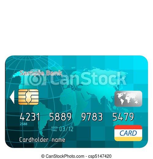 eps, krediet, voorkant, 8, overzicht., kaarten - csp5147420
