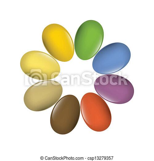 eps10, 卵, ベクトル, 多彩, イースター, set. - csp13279357