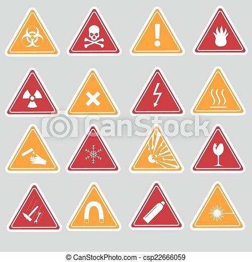 16 señales de peligro de color - csp22666059
