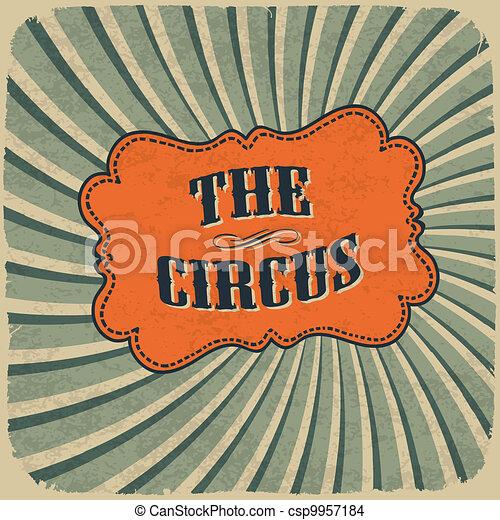 Eps10 Card Klassisch Weinlese Zirkus Retro Farben Stil