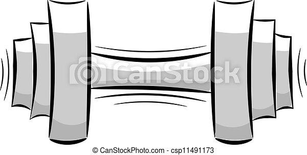 Caricatura de pesas. Eps10 - csp11491173