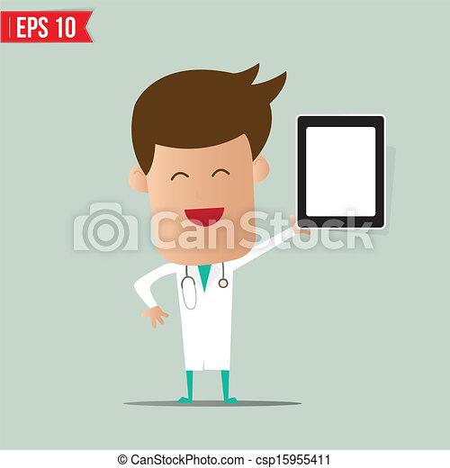 eps10, doutor, mostrando, -, ilustração, vetorial, relatório - csp15955411