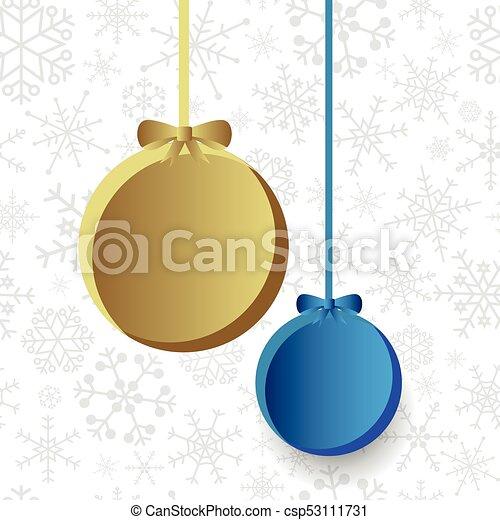 eps10, dva, vánoce, grafické pozadí, cibulka, sněhová vločka - csp53111731