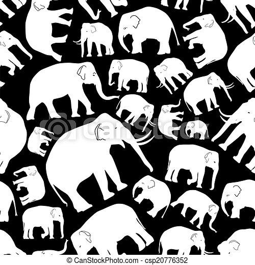 Elefantes vectores blancos patrón sin costura eps10 - csp20776352