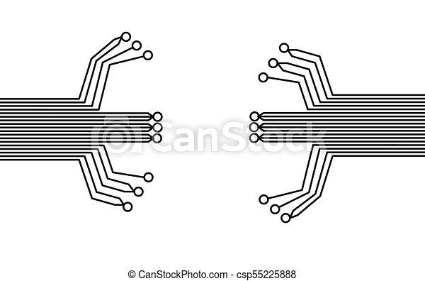 eps10, fond, résumé, élevé, arrière-plan., vecteur, technologie, circuit, board., puce - csp55225888