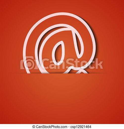 Antecedentes de vector. Un aparato de icono naranja. Eps10 - csp12921464
