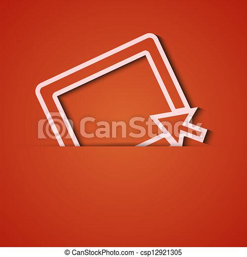 Antecedentes de vector. Un aparato de icono naranja. Eps10 - csp12921305