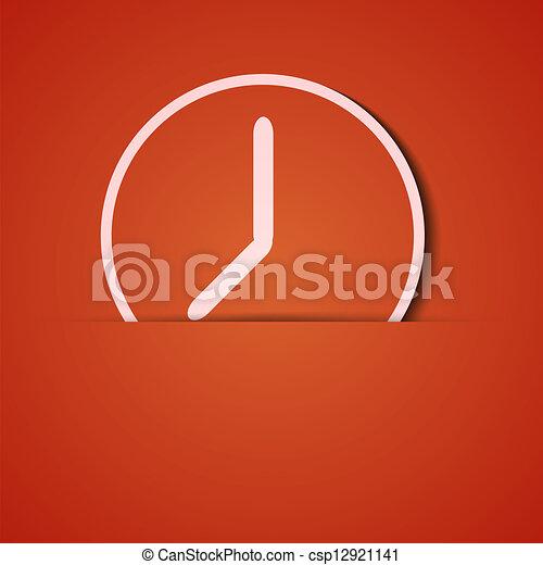 Antecedentes de vector. Un aparato de icono naranja. Eps10 - csp12921141
