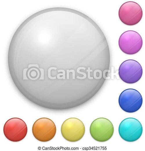 eps10, gabarit, posé couches, isolé, arrière-plan., vecteur, facile, vide, blanc, écusson, adjustable., fichier - csp34521755