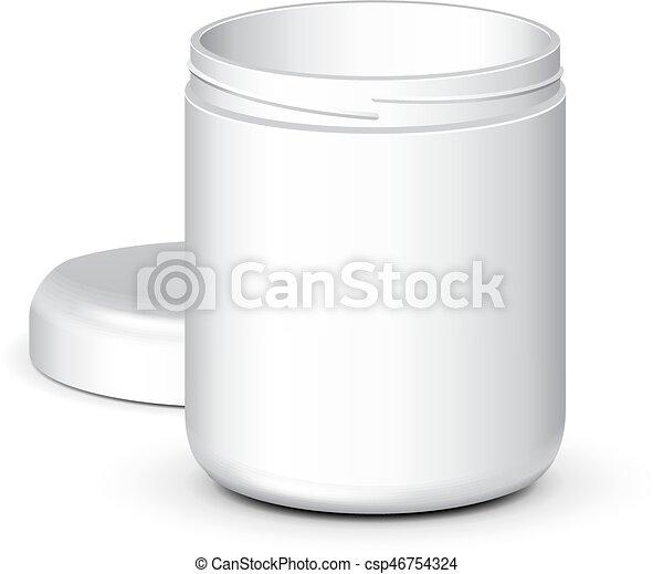eps10, isolated., πάνω , κενό , έτοιμος , αλάτι , δικό σου , design., ανοιγμένα , βάζο , φόρμα , άσπρο , κοροϊδεύω , αλάτι , προϊόν , τσάι , πούδρα , ζάχαρη άχνη, φόντο , άσπρο , γέλη , κρέμα , καφέs , σκούφοs , πακετάρισμα , μικροβιοφορέας , μπορώ , bottle., ή  - csp46754324