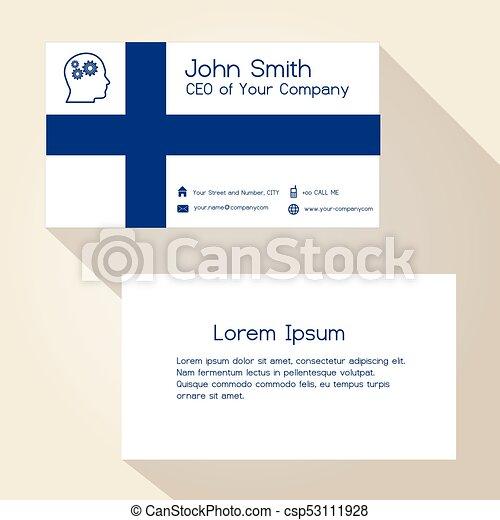 eps10, povolání color, finsko znamení, design, karta - csp53111928