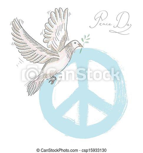 El símbolo de la paz es la textura de la página EPS10. - csp15933130