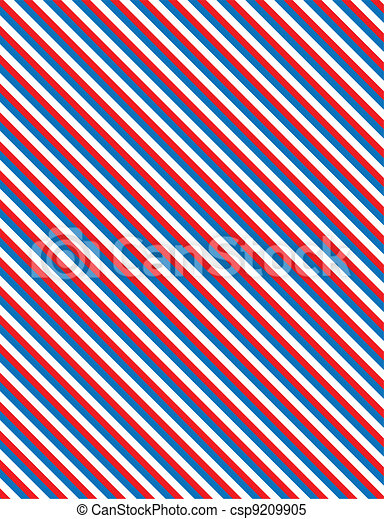 EPS8 Vector Red White and Blue Stri - csp9209905