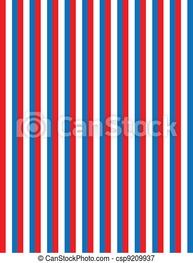 EPS8 Vector Red White and Blue Stri - csp9209937