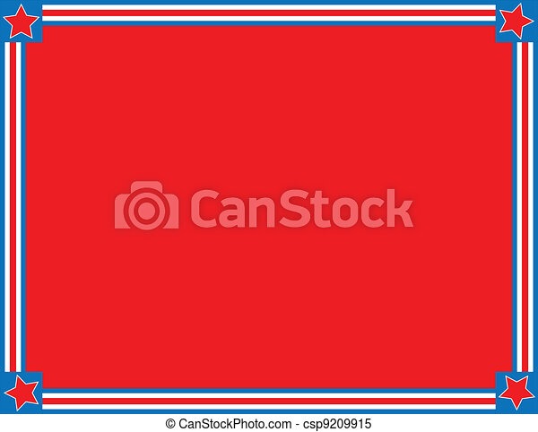 EPS8 Vector Red White Blue Star Str - csp9209915