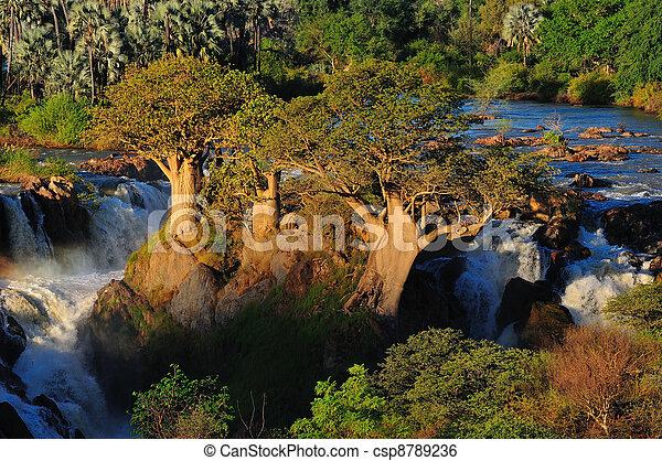 Epupa waterfall, Namibia - csp8789236
